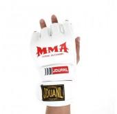 ถุงมือมวยไทยครึ่งนิ้ว สีขาว Men MMA Glove