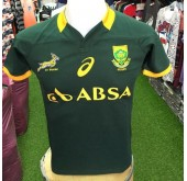 Asics South Africa Home Rugby Match Jersey - Bottle Green