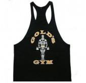 Gold Gym เสื้อกล้าม เข้ารูป Golds Gym (สีดำ)