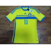 Sweden Home Shirt 2014-15 Ibrahimović No.10
